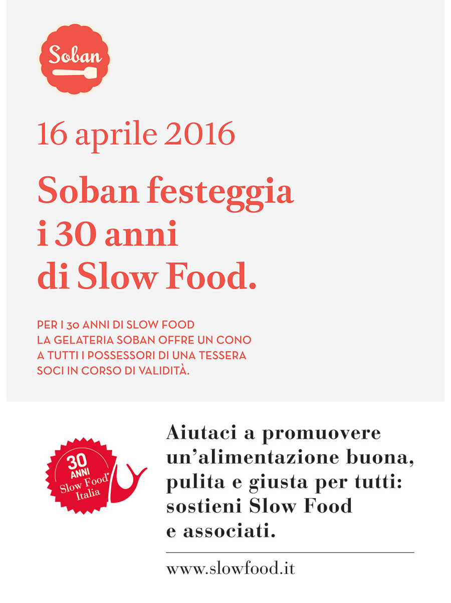 slow food day gelato soban compleanno